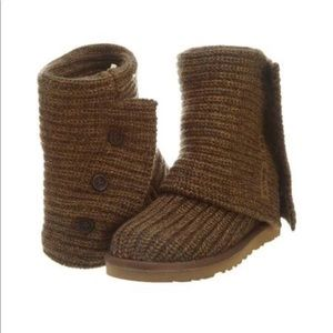 Ugg, Classic Cardy Knit Boots NWOT Sz 6 NWOT 🆕